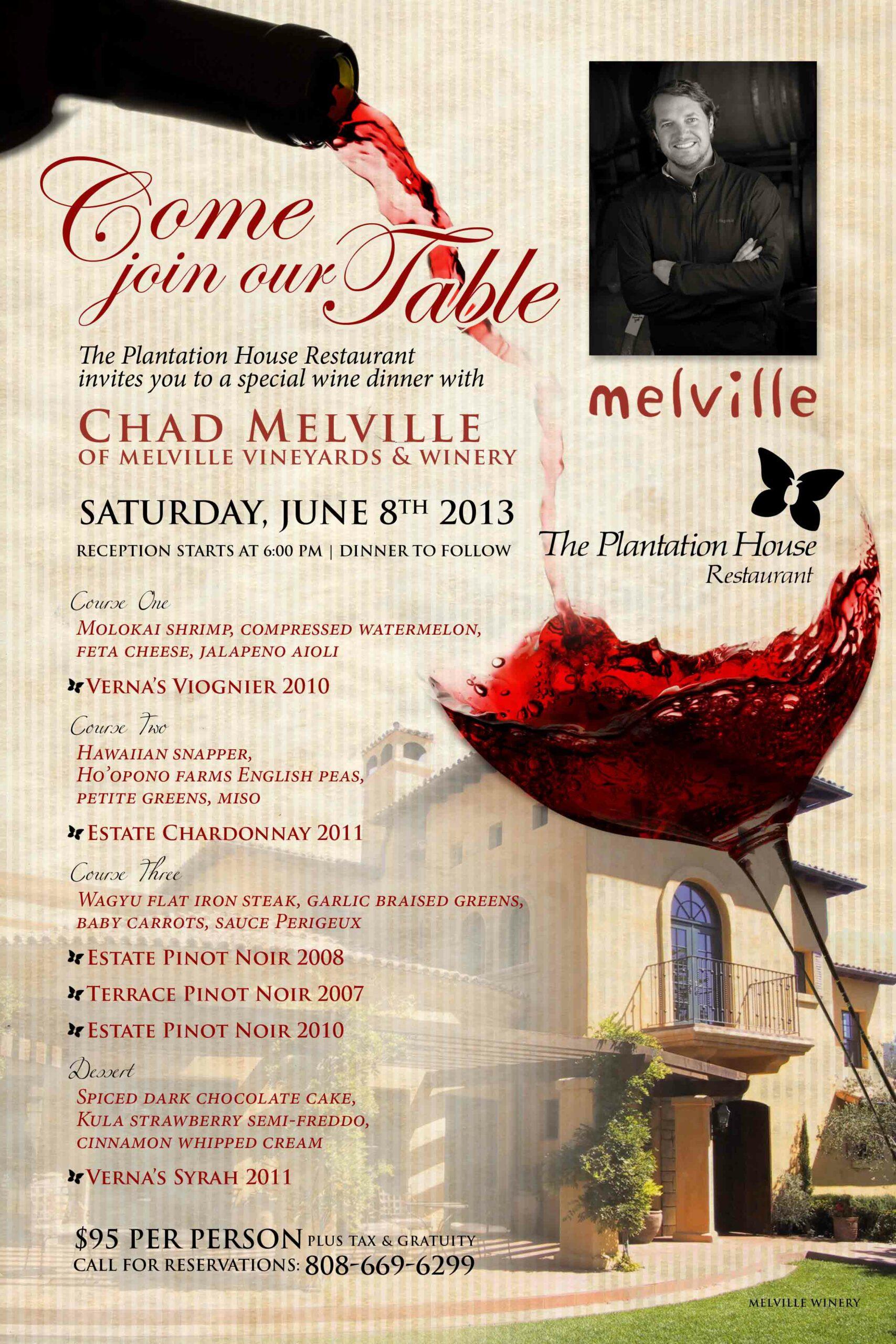 plantation-house_melville-dinner_2013   Kapalua Wine and ...