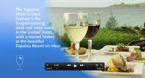 Kapalua Wine and Food Festival Video Highlights.
