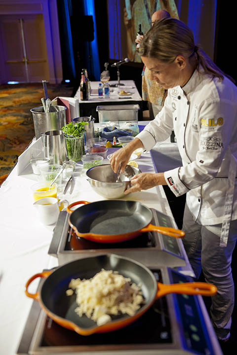 Cat Cora Cooking Demo