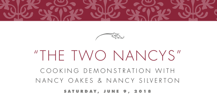 "Recipes from ""The Two Nancys"" Cooking Demo"